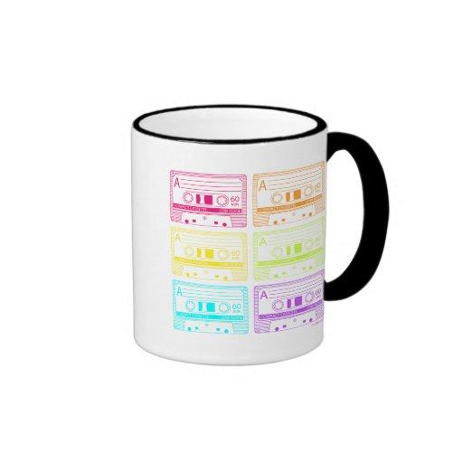 Neon Mix Tapes Ringer Coffee Mug