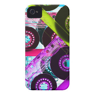 Neon Mixtapes iPhone 4 Cases