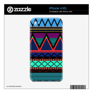 Neon Modern Tribal iPhone 4/4S Skin Skins For The iPhone 4