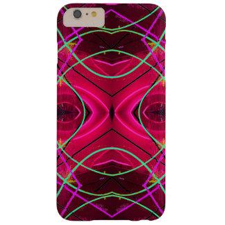 Neón moderno y rosa 2 del caso del iPhone de Funda De iPhone 6 Plus Barely There