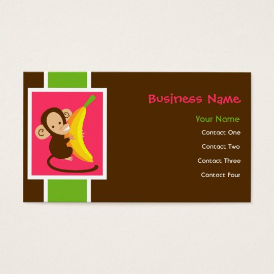 Neon Monkey Business Cards