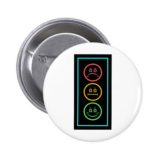 Neon Moody Stoplight 2 Inch Round Button