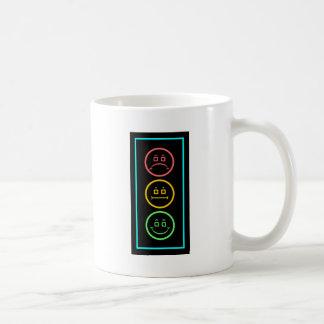 Neon Moody Stoplight Classic White Coffee Mug