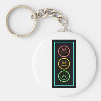 Neon Moody Stoplight Keychains