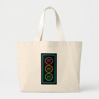 Neon Moody Stoplight Large Tote Bag