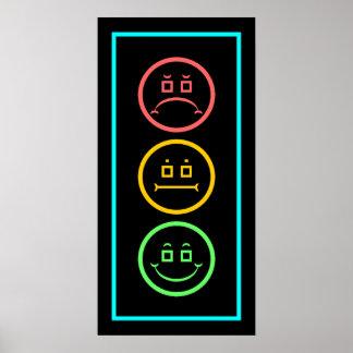 Neon Moody Stoplight Poster