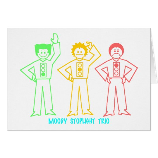Neon Moody Stoplight Trio Characters w/ Label Card