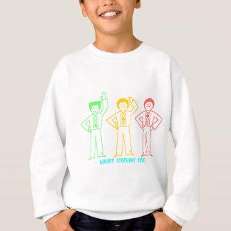 Neon Moody Stoplight Trio Characters w/ Label Sweatshirt