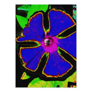 Neon Morning Glory 5.5x7.5 Paper Invitation Card