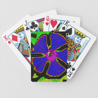 Neon Morning Glory Bicycle Poker Cards