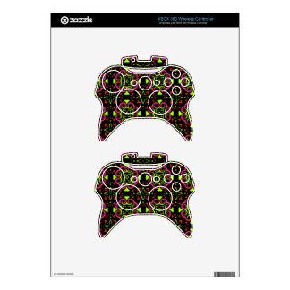 Neon Motif Xbox 360 Controller Skin
