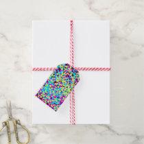 Neon Multi-Colored Fun Confetti Gift Tags