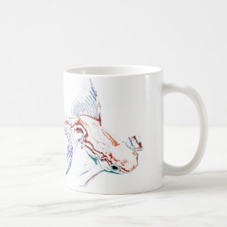 Neon Multicolor Rainbow Fish/Goldfish/Koi Classic White Coffee Mug