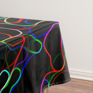 Zazzle & Abstract Neon Tablecloths | Zazzle