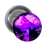 Neon Mushroom Pinback Button