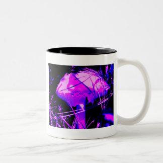 Neon Mushroom Two-Tone Coffee Mug
