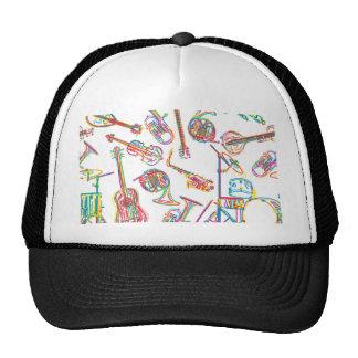 Neon Music Pattern Trucker Hat