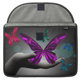 Neon Mystic Butterflies MacBook Pro Sleeve