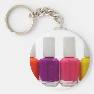Neon Nail Polish Keychain