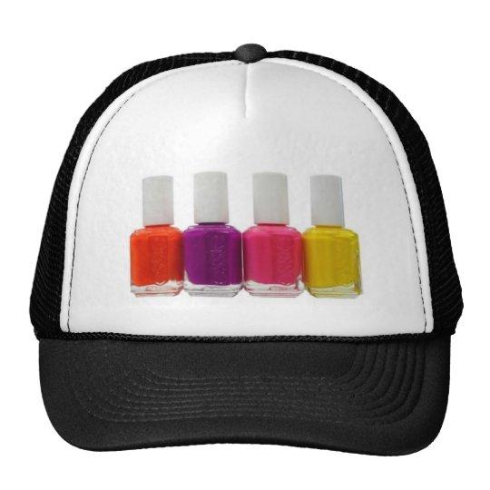 Neon Nail Polish Trucker Hat