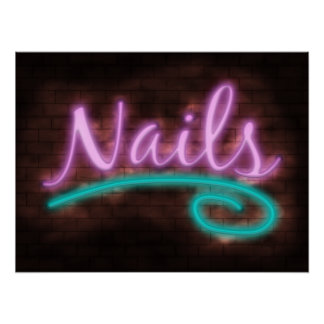 Neon Nails Sign