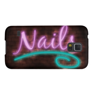 Neon Nails Sign Galaxy S5 Cover