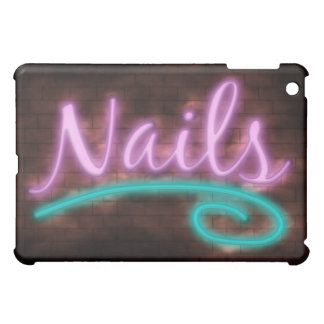Neon Nails Sign Case For The iPad Mini