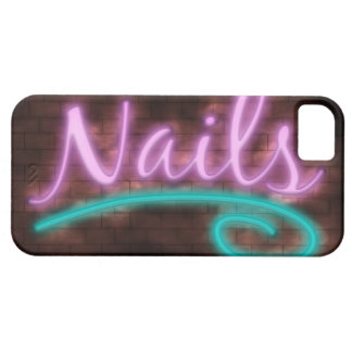 Neon Nails Sign iPhone SE/5/5s Case
