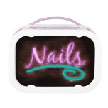 Neon Nails Sign Lunch Boxes