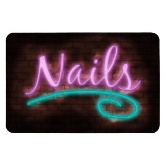 Neon Nails Sign Magnets
