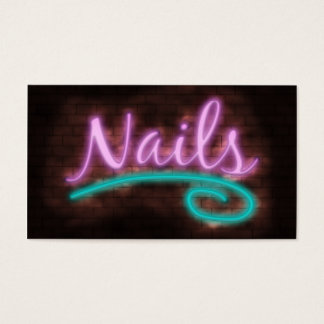 Neon Nails Technician Business Card