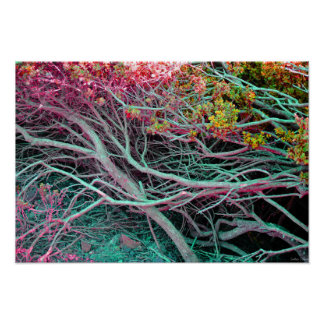 """Neon Nature Poster (19"""" x 13"""")"""