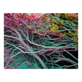 """Neon Nature Poster (24"""" x 18"""")"""