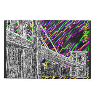 neon new york bridge case for iPad air