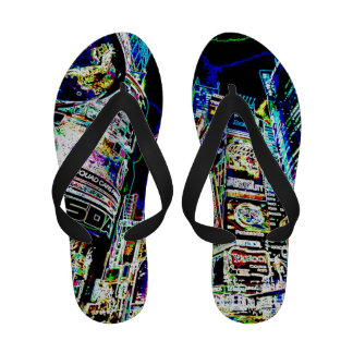 Neon New York City Flip-Flops