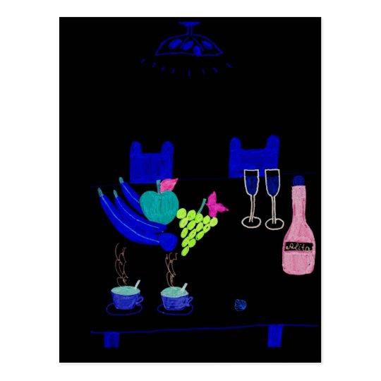 neon night postcard