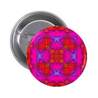 Neón ningún de Kreations del caleidoscopio 1 Pin Redondo De 2 Pulgadas