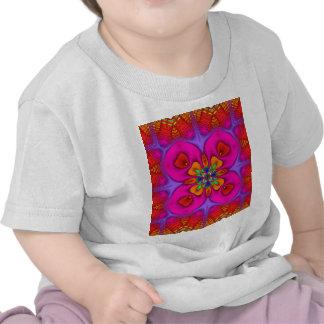 Neón ningunos de Kreations del caleidoscopio 4 Camiseta