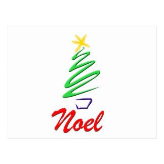 Neon Noel Xmas Tree Postcard