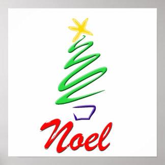 Neon Noel Xmas Tree Posters