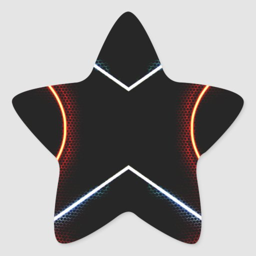 Neon NYC Black and Neon Photographic Art Star Sticker