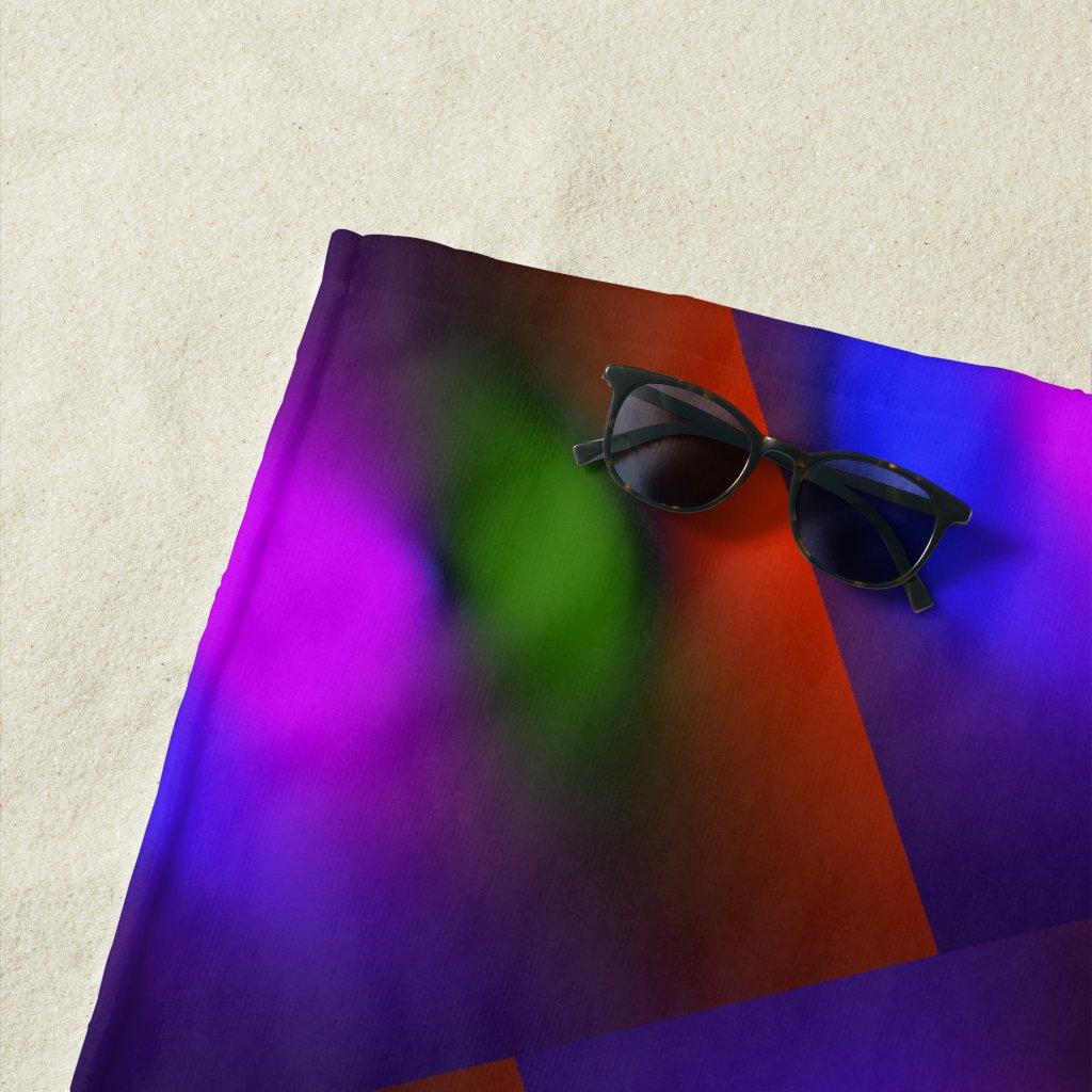 Neon of BPGO Colors Pattern Beach Towel ZSSPG