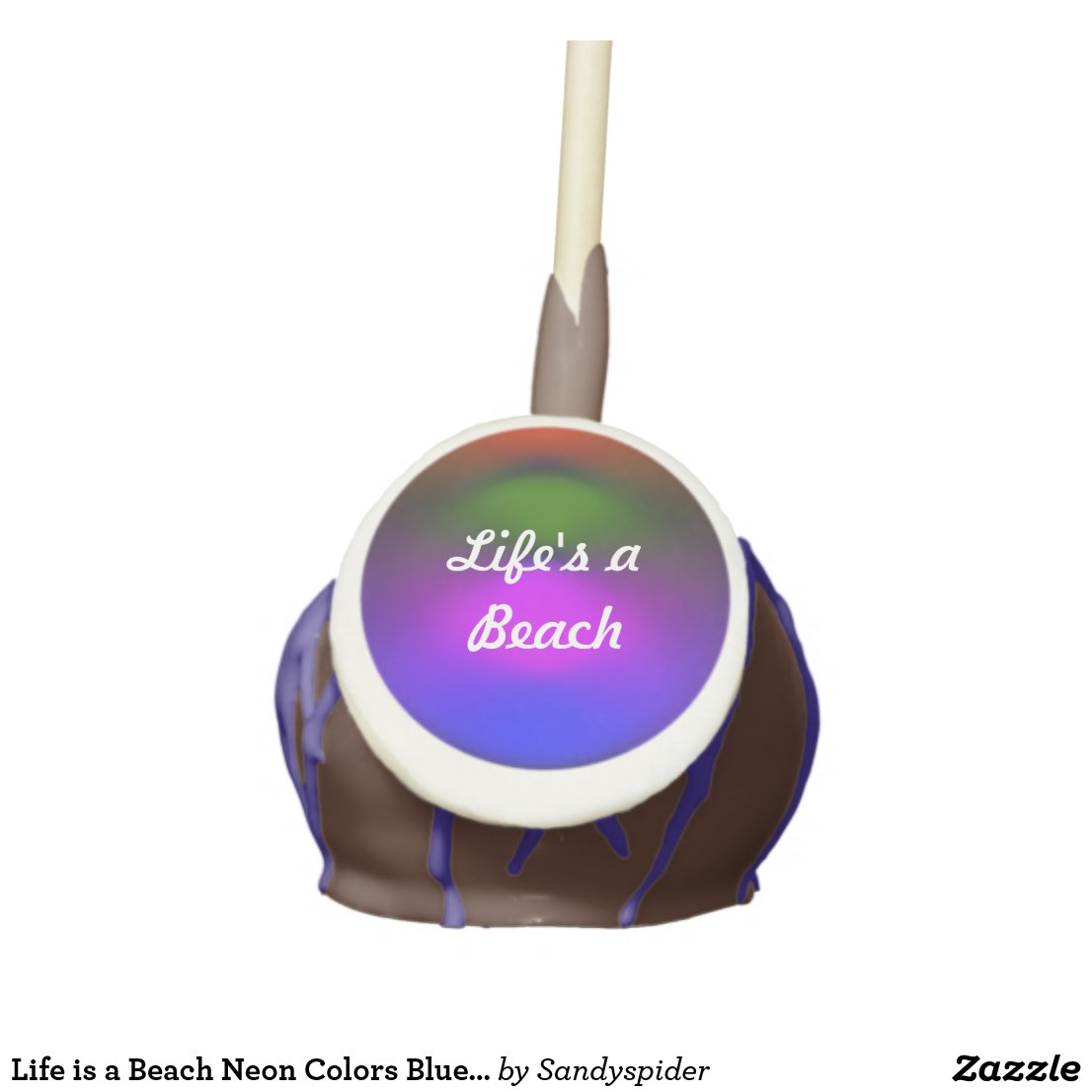 Neon of Colors Life's a Beach Cake Pop ZSSPG