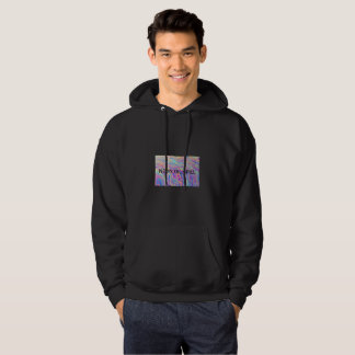 NEON OIL SPILL mens hooded sweatshirt
