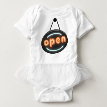 Professional Business Neon Open Sign Baby Bodysuit
