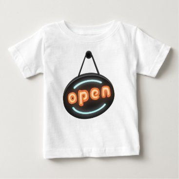 Professional Business Neon Open Sign Baby T-Shirt