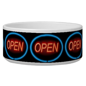 Professional Business Neon open sign. bowl