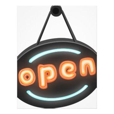 Professional Business Neon Open Sign Letterhead