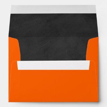 Neon Orange, Chalkboard Bat Mitzvah Env. for 5x7s Envelope