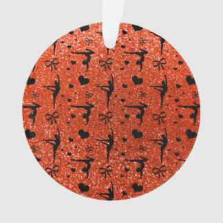 Neon orange gymnastics glitter pattern